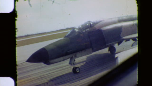phantom taking off during vietnam war - fighter stock videos & royalty-free footage