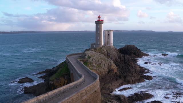 phare du petit minou (lighthouse petit minou). - france stock videos & royalty-free footage