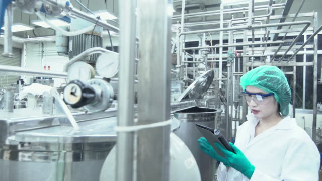 pharmaceutical female workers - pharmaceutical factory stock videos & royalty-free footage