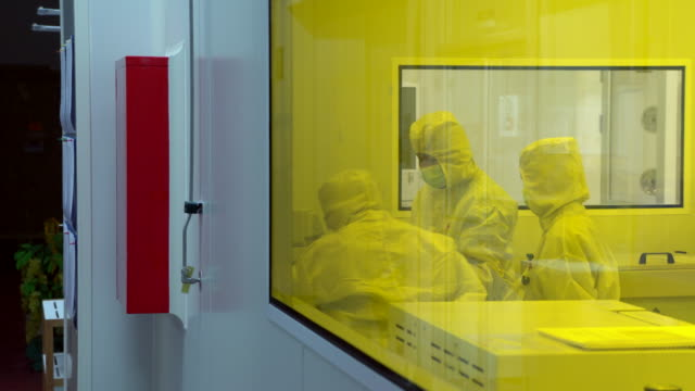 pharmaceutical machinery for medicine production - clean room stock videos and b-roll footage