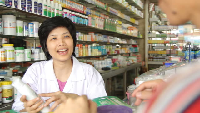 hd : pharmacist and customer - sales occupation stock videos & royalty-free footage