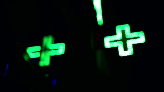 vídeos y material grabado en eventos de stock de almacén de farmacia, verde neón - símbolo