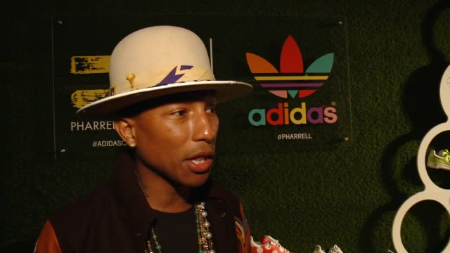 CHYRON Pharrell Williams And adidas Celebrate Collaboration in Los Angeles CA