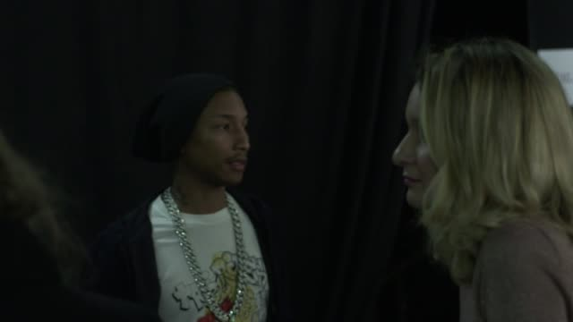 pharrell williams at lanvin a/w 2012 on march 02 2012 in paris france - b roll stock videos & royalty-free footage