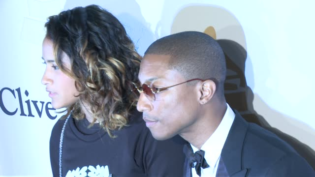 pharrell williams at the pregrammy gala and salute to industry icons honoring martin bandier at the beverly hilton hotel on february 07 2015 in... - the beverly hilton hotel stock videos & royalty-free footage