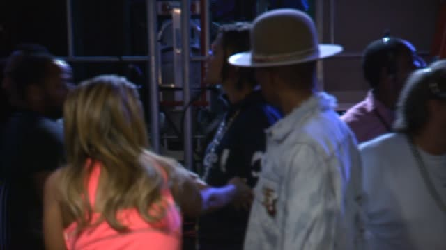 pharrell williams backstage at the nickelodeon kids' choice sports awards 2014 at pauley pavilion on july 17 2014 in los angeles california - nickelodeon stock videos & royalty-free footage