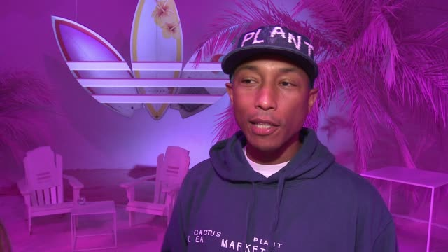 INTERVIEW Pharrell Williams on what Pink Beach is the inspiration behind the collection and talks about when where the product will be available at...