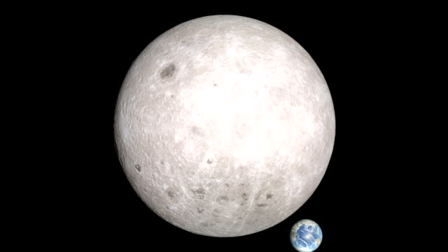 phases of the far side of the moon - orbiting stock videos & royalty-free footage