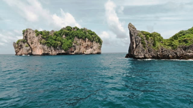 phi phi islands thailand - view into land stock videos & royalty-free footage