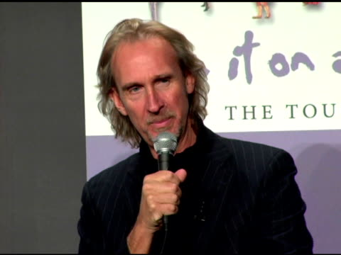 phil collins and mike rutherford on not having a corporate sponsorshop on the tour at the announcement of genesis 'turn it on again' tour dates at... - mike rutherford stock videos & royalty-free footage