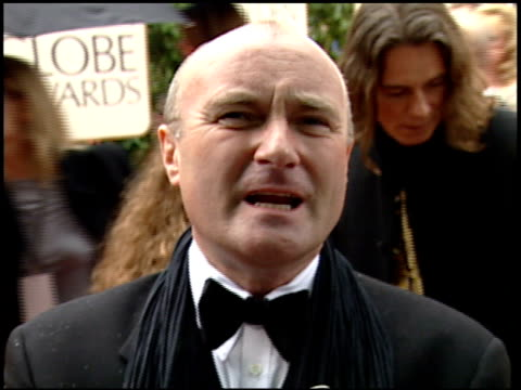 phil collins at the 2000 golden globe awards at the beverly hilton in beverly hills california on january 23 2000 - phil collins stock videos & royalty-free footage