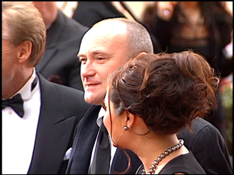 phil collins at the 2001 golden globe awards at the beverly hilton in beverly hills california on january 21 2001 - phil collins stock videos & royalty-free footage