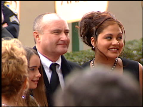 phil collins at the 2001 golden globe awards at the beverly hilton in beverly hills, california on january 21, 2001. - phil collins stock videos & royalty-free footage