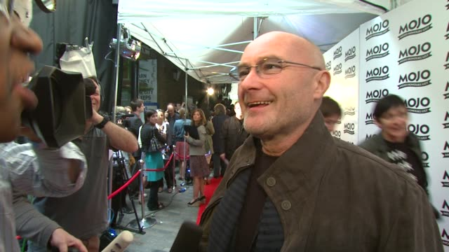 phil collins, genesis at the mojo honours list at london . - phil collins stock videos & royalty-free footage