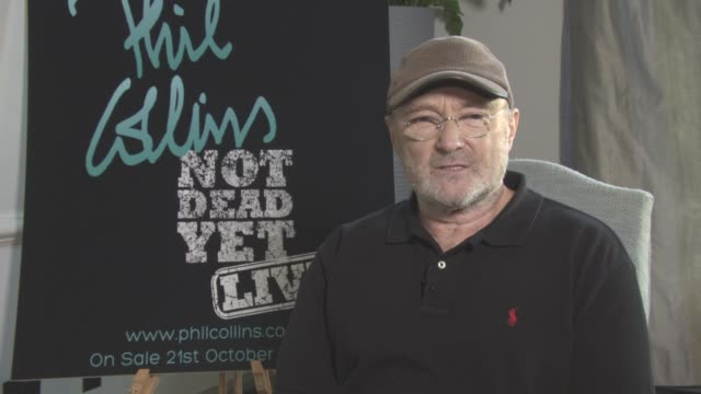 phil collins on coming back, his son playing with him, social media, the changing industry, his fans at phil collins not dead yet live on october 17,... - phil collins stock videos & royalty-free footage