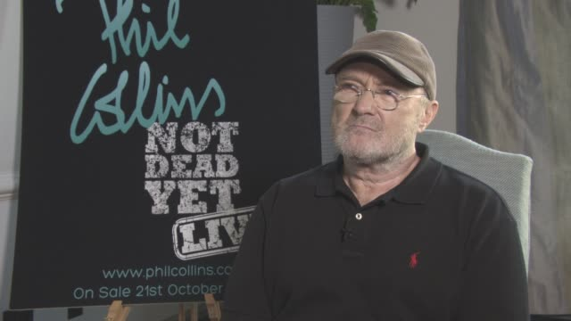 interview phil collins on his drinking issues at phil collins not dead yet live on october 17 2016 in london england - phil collins stock videos & royalty-free footage