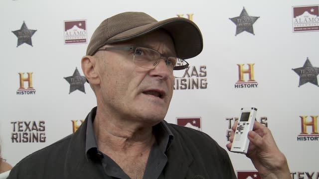 phil collins on his fondness for the era, his alamo collection, and his relationship to the state of texas at history® celebrates epic new miniseries... - phil collins stock videos & royalty-free footage