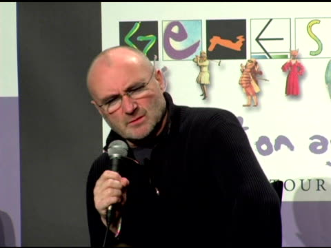 phil collins on how it feels to get back together and still play for so many fans and john mayer being excited to see genesis at the announcement of... - phil collins stock videos & royalty-free footage