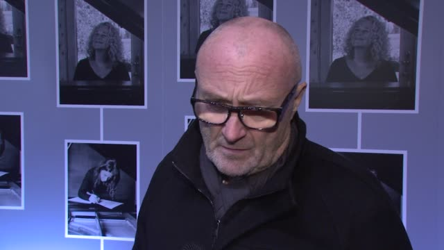 interview phil collins on working with carole king on what is so compelling about her on her writing for his latest album jokes about broadway doing... - phil collins stock videos & royalty-free footage
