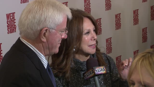 Phil Donahue and Marlo Thomas at the 'West Side Story' Broadway Opening Night at New York NY