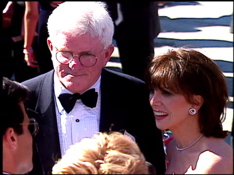 phil donahue at the 1996 emmy awards arrivals at the pasadena civic auditorium in pasadena california on september 8 1996 - pasadena civic auditorium stock videos & royalty-free footage