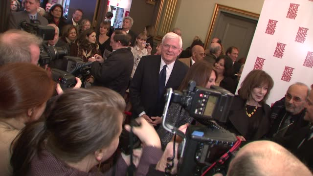 Phil Donahue at the 'West Side Story' Broadway Opening Night at New York NY