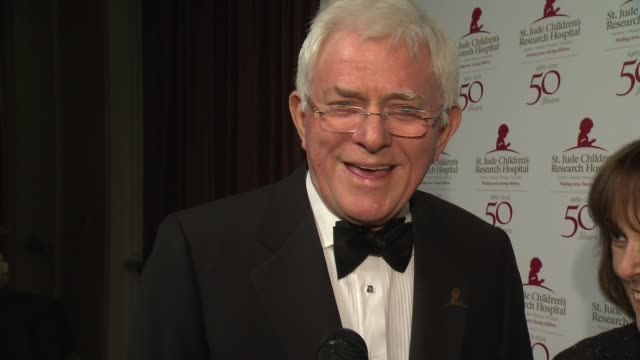 Phil Donahue on St Jude research institution at St Jude Children's Research Hospital 50th Anniversary Gala Benefit on 1/7/2012 in Beverly Hills CA