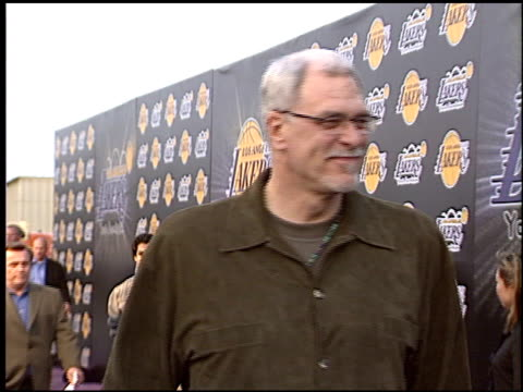 phil jackson at the los angeles lakers youth foundation at barker hanger in santa monica, california on april 8, 2004. - phil jackson stock videos & royalty-free footage
