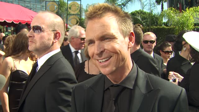phil keoghan on being nominated at the 61st annual primetime emmy awards arrivals at los angeles ca - annual primetime emmy awards stock-videos und b-roll-filmmaterial