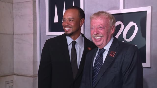phil knight and tiger woods at tiger woods foundation event at new york public library on october 20 2016 in new york city - tiger woods stock videos & royalty-free footage