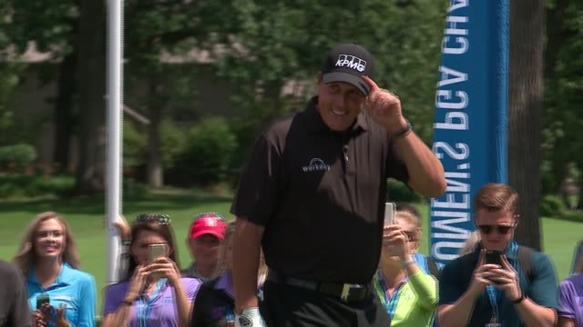 phil mickelson announced at a 2017 kpmg women's pga championship event on june 26, 2017. - pga stock videos & royalty-free footage