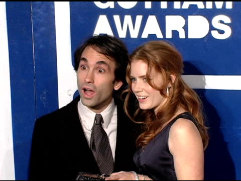 phil morrison and amy adams at the ifp's 15th annual gotham awards arrivals at pier 60 at chelsea piers in new york new york on november 30 2005 - chelsea piers stock videos & royalty-free footage