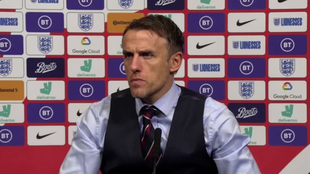 phil neville insisted he takes full responsibility for england women's 21 defeat to germany in front of a recordbreaking crowd at wembley an... - wembley stock videos & royalty-free footage