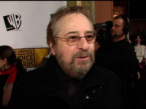 phil ramone on working on 'beyond the sea' on surpassing expectation and on becoming involved at the 2005 critics' choice awards interviews at the... - wiltern theater stock videos and b-roll footage
