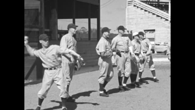 philadelphia athletics manager connie mack says but above all just take a good peek at these athletics and see them handle those [new york] giants... - spring training stock videos & royalty-free footage