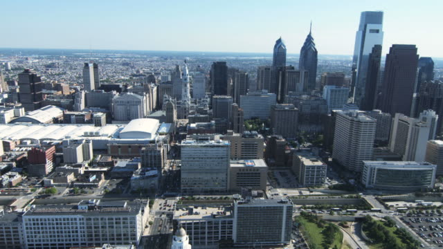 HD AERIAL: Philadelphia Downtown