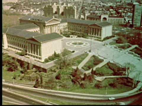 1976 MONTAGE Philadelphia Museum of Art exterior and interior / Philadelphia, Pennsylvania, USA