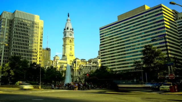 philadelphia, pa: city hall - local government building stock videos & royalty-free footage
