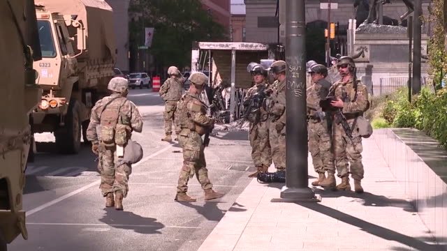 wphl philadelphia pa us national guard arrives in philadelphia an eerie sight in philadelphia this morning as the pennsylvania national guard... - armored vehicle stock videos & royalty-free footage
