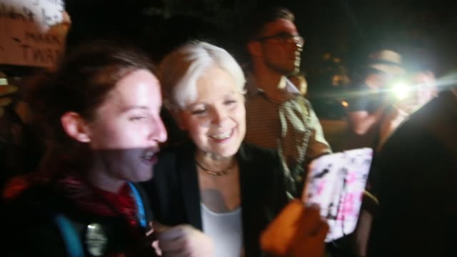 07262016 philadelphia pennsylvania usa jill stein marches on broad street with bernie or bust protesters and move members after roll call on the... - jill stein stock videos and b-roll footage