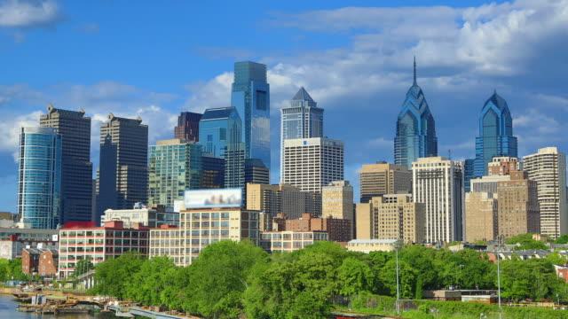 philadelphia skyline - liberty bell stock videos & royalty-free footage