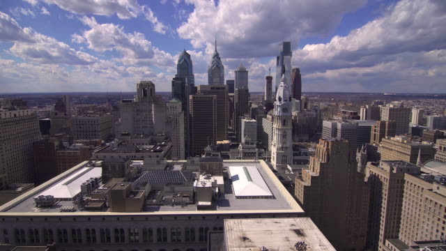 philadelphia skyline - center city philadelphia stock videos and b-roll footage
