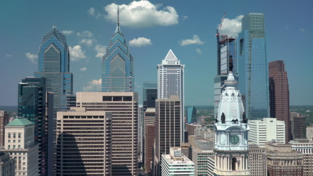 philadelphia skyscrapers - center city philadelphia stock videos and b-roll footage