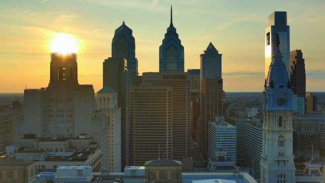 philadelphia tramonto - philadelphia pennsylvania video stock e b–roll