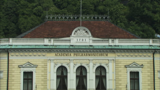 ms tu philharmonic academy and ljubljana castle / ljubljana, slovenia - western script stock videos & royalty-free footage