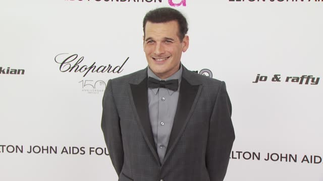 philip block at the 18th annual elton john aids foundation oscar party at west hollywood ca. - oscar party stock videos & royalty-free footage