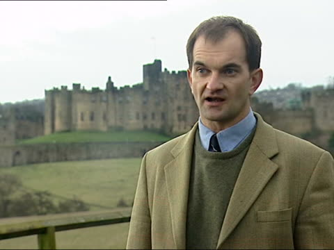 philip gregory interview sot reason he's doing this is to safeguard collection he has in alnwick castle and zion house to safeguard fabric of... - raphaël haroche stock videos & royalty-free footage