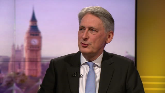 philip hammond saying he is not backing a leadership candidate at this stage but will engage with all of them - andrew marr stock videos & royalty-free footage