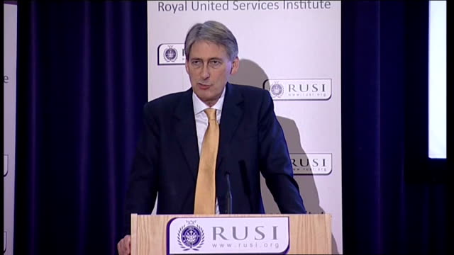 vidéos et rushes de philip hammond speech at rusi hammond speech sot but let's be under no illusions unpicking the sdsr piece by piece is simply not an option i am... - incontinence