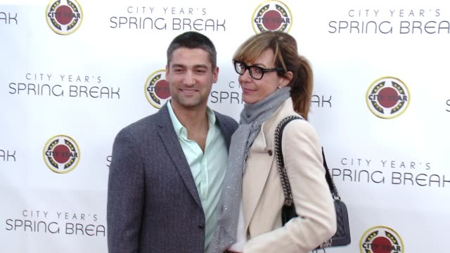 Philip Joncas Allison Janney at City Year Spring Break in Los Angeles CA